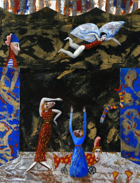 Petit théâtre, mixed media on wood, Jean Boccacino, Contemporary Art, Artcompulsion