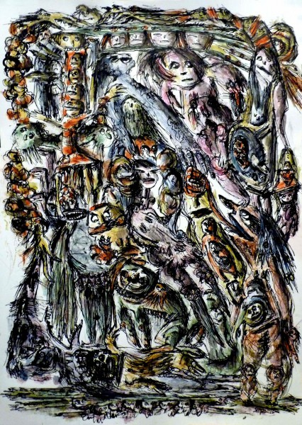 Le rat semeur, inks on paper, Simdo, Outsider Art, Artcompulsion