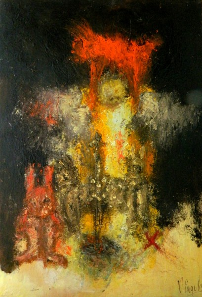 Le Zoo, oil on canvas, Véronique Engels, Contemporary Art, Expressionism, Artcompulsion