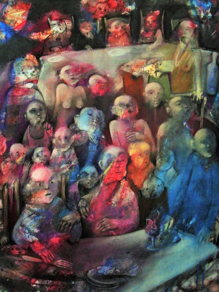 Sans titre 9, acrylic and pastel on paper, Gérard Jaulin, Expressionism, Contemporary Art, Artcompulsion