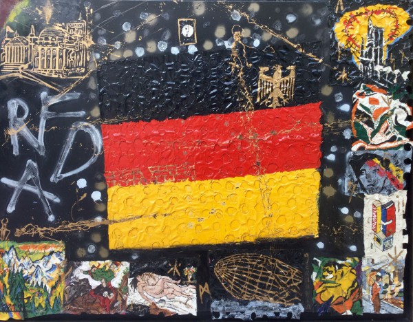 Mon Allemagne, Mixed media on canvas, Maxime Lhermet, Contemporary Art, Artcompulsion