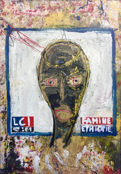 Famine Ethiopie..., mixed media on canvas, Maxime Lhermet, Contemporary Art, Artcompulsion