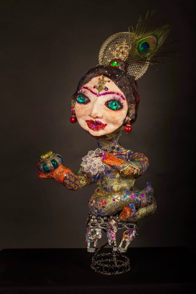 Krishna,sculpture, Svetlana Rasto, Outsider Art, Artcompulsion