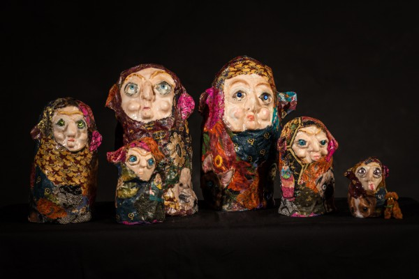 L'inséparable famille, sculpture, Svetlana Rasto, Outsider Art, Artcompulsion