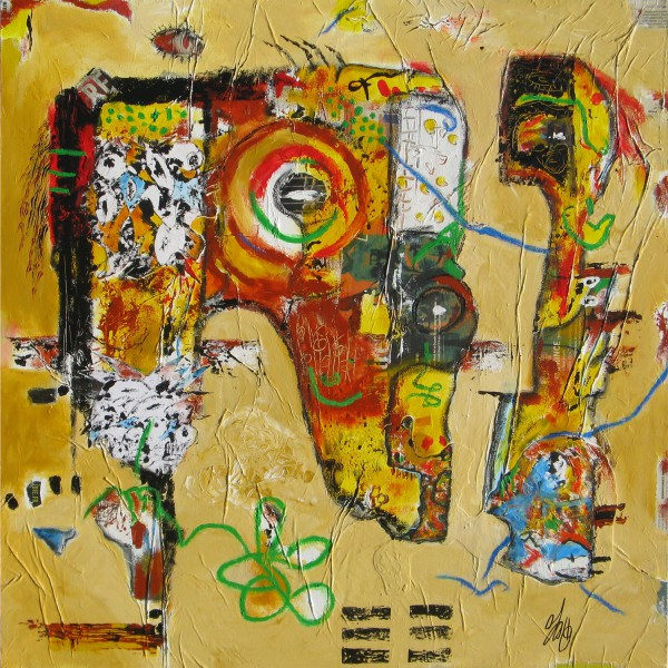 Sans titre 1, Acrylic on canvas, Jean Jacques Royo, Outsider Art, Artcompulsion