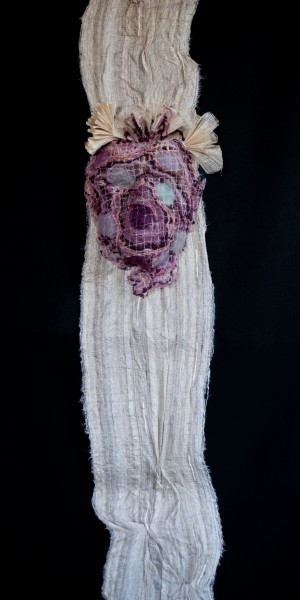 Hypnotique, textile art, mixed media, Valérie Métras, Artcompulsion,outsider art