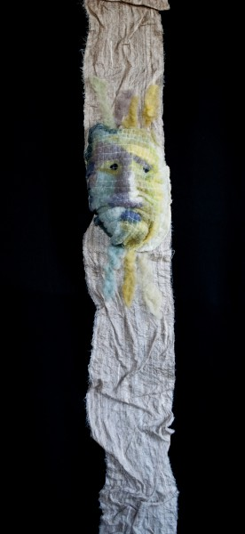 Sagesse, textile art, mixed media, Valérie Métras, Artcompulsion, outsider art