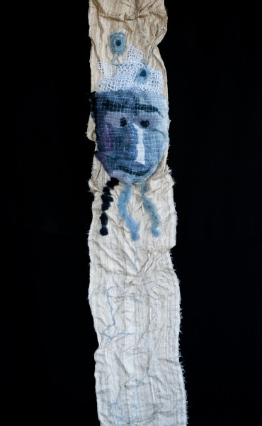 Indigotier, textile art, mixed media, Métras Valérie, Artcompulsion, Outsider art