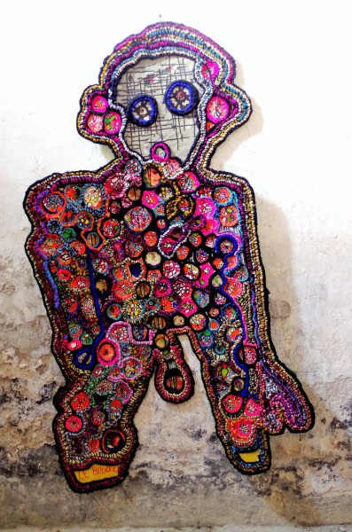 Le bouquet, Textile Art, Virginie Chomette, Artcompulsion, Outsider Art