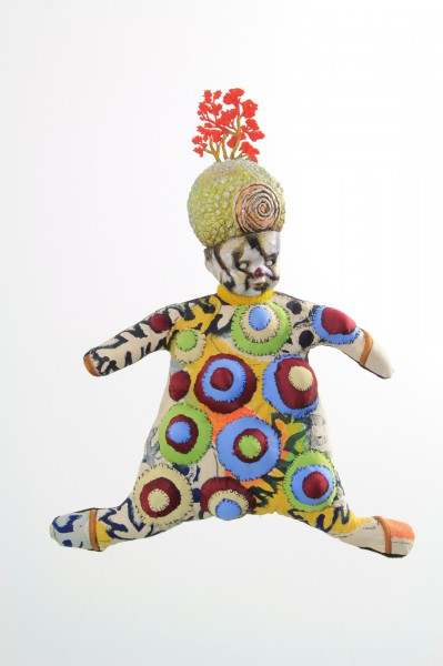 L'Ami d'Enfance, Mars Attak, Textile Doll, Mixed media, Odile Mandrette, Outsider Art, Artcompulsion