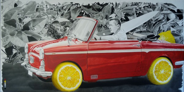 Je taille ma route, Acylic on canvas, Paul Rey, contemporary Art, Artcompulsion