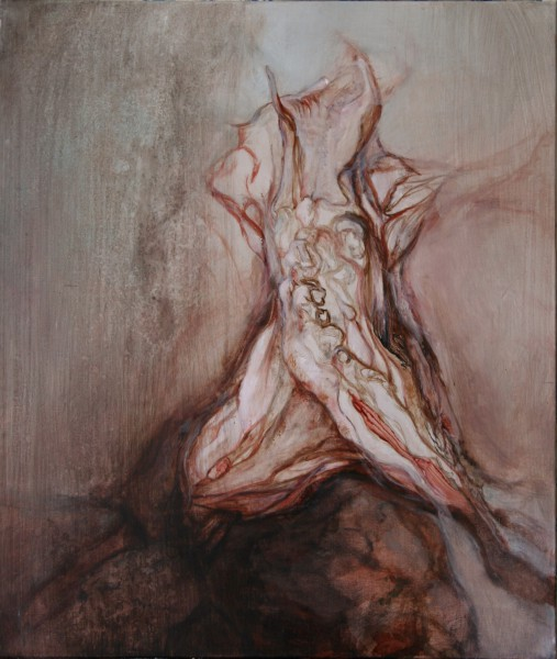 Chute 8, oil on canvas, Pascale Morel, expressionism, Artcompulsion