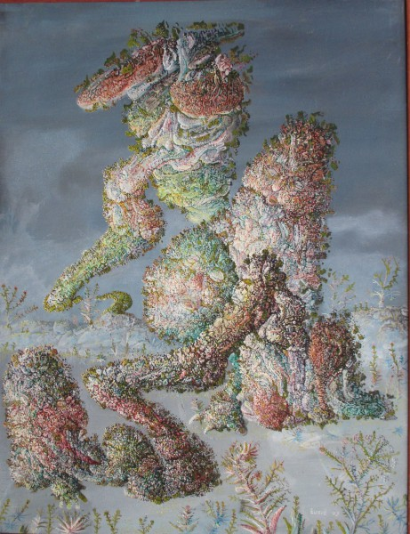 Contact, oil on canvas, Zoran Žugić, Outsider Art, Artcompulsion