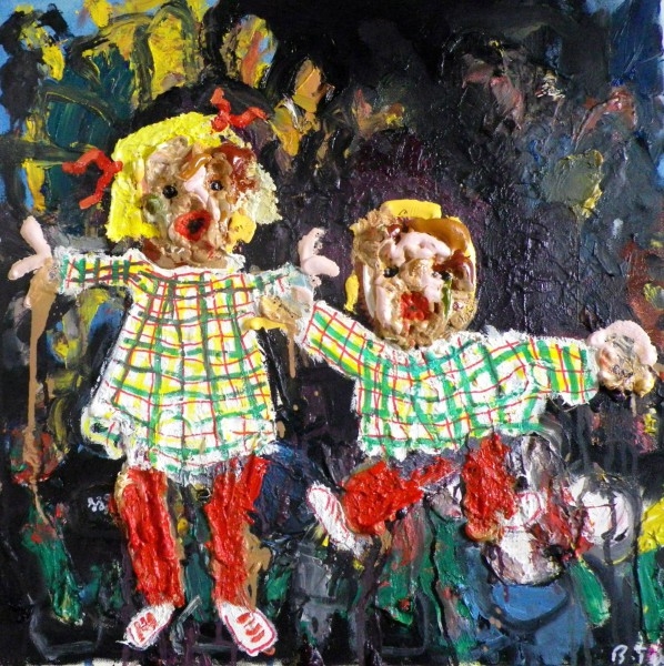 Promenons nous dans les bois, oil on canvas, Bruno Tessier, Outsider Art, Artcompulsion