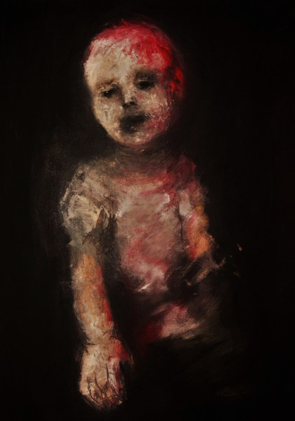 El cuerpo como memoria en la Infancia 05, oil and acrylic on canvas, Ana Galvis, Artcompulsion, expressionism