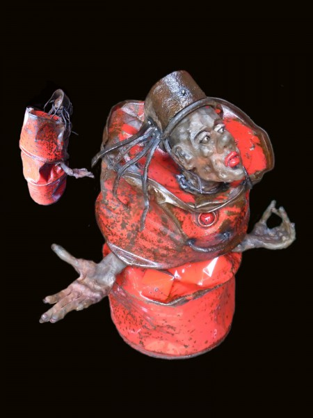 Amma, sculpture, ceramic and metal, Bernard Nicolas, Outsider Art, Artcompulsion