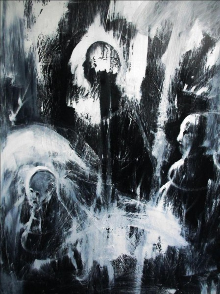 Others, oil on canvas, Arnaud Martin, Artcompulsion, expressionism