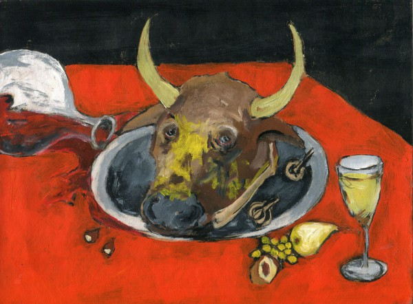 "N°7 ""Série Good Luck"", acrylic on paper, Joliane Siegel, expressionism, Artcompulsion, still life"