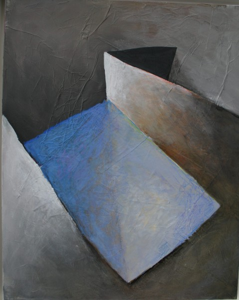 Souffle bleu, acrylic on canvas, Pierre Souchaud