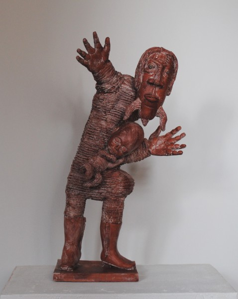 Vierge à l'enfant, ceramic, sculpture, Alain Kieffer, Outsider Art, Artcompulsion