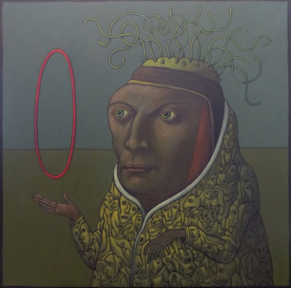 Le manteau jaune, acrylic on canvas, Bernard Le Nen, contemporary art, Artcompulsion
