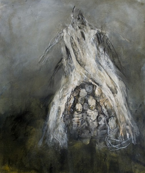 Douve 1,mixed media on canvas, Isabelle Vialle, expressionism, Artcompulsion