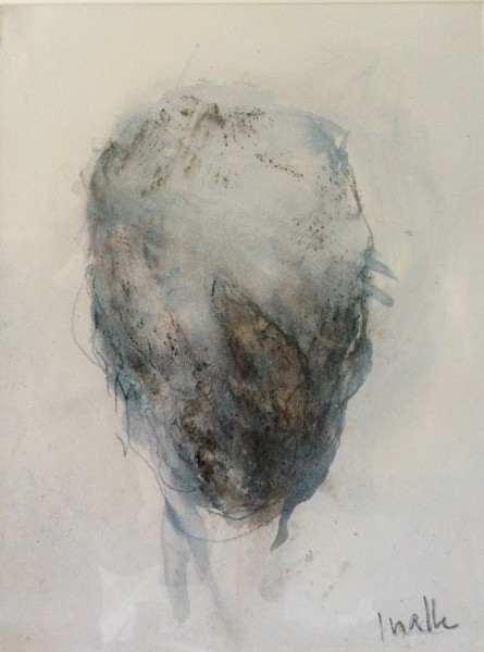 Tête 1, mixed media on cardboard, Isabelle Vialle, expressionism, Artcompulsion