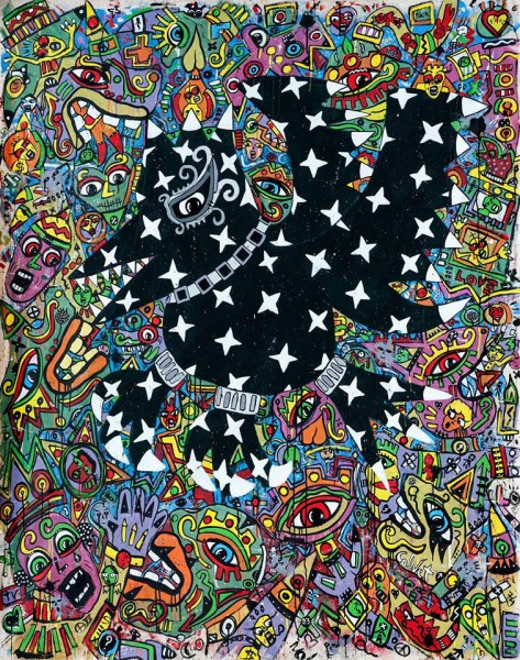 The Crow, acrylic on canvas, Jean-Marc Calvet, Artcompulsion
