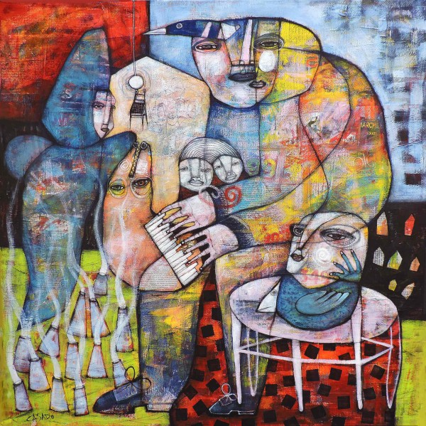 Music for friends, 80x80cm, Dan Casado