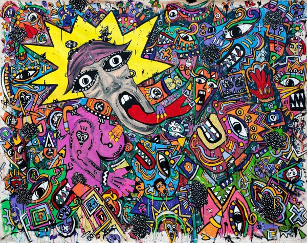 The Street of Regrets, acrylique sur toile, Jean-Marc Calvet, Artcompulsion
