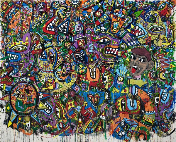 Only God Knows Why, acrylique sur toile, Jean-Marc Calvet, Artcompulsion