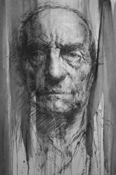 Tête 2, drawing on paper, Jean-Louis Nehlich, Artcompulsion, expressionism
