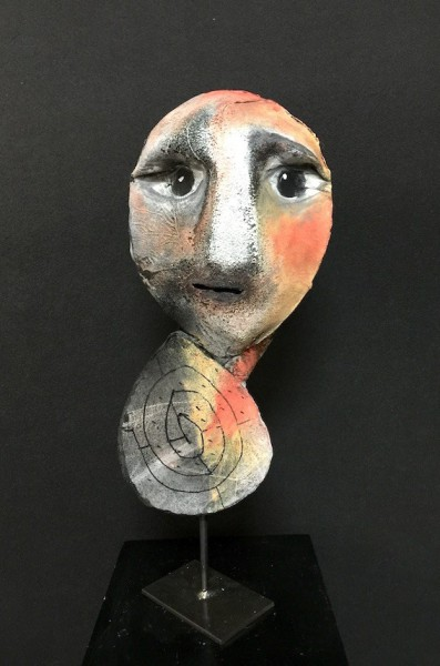 Saint Hervé, Escultura de fieltro, Nadine Vergues, Arte contemporáneo, Outsider Art, Artcompulsion