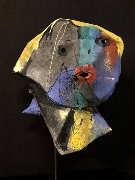 Palette, Felt sculpture, Nadine Vergues, Outsider Art, Contemporary Art, Artcompulsion