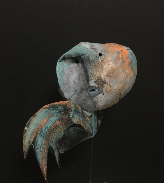 Pôvr'ange, Escultura de fieltro, Nadine Vergues, Arte contemporáneo, Outsider Art, Artcompulsion