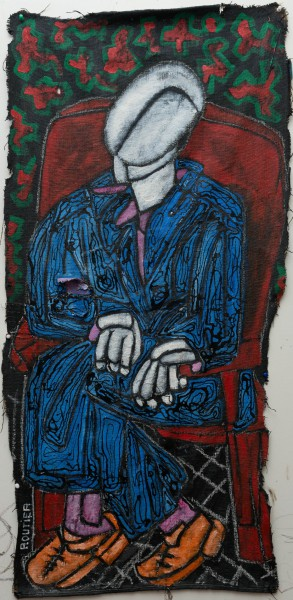 Gentleman, acrylic on jute canvas, Philippe Routier