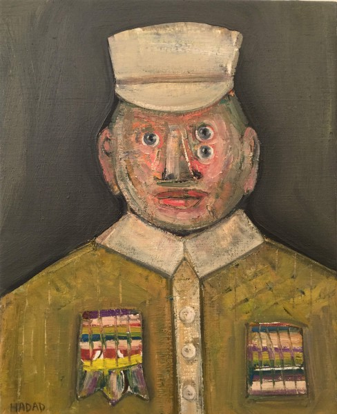 Le grand commandant, oil on canvas, Abraham Hadad