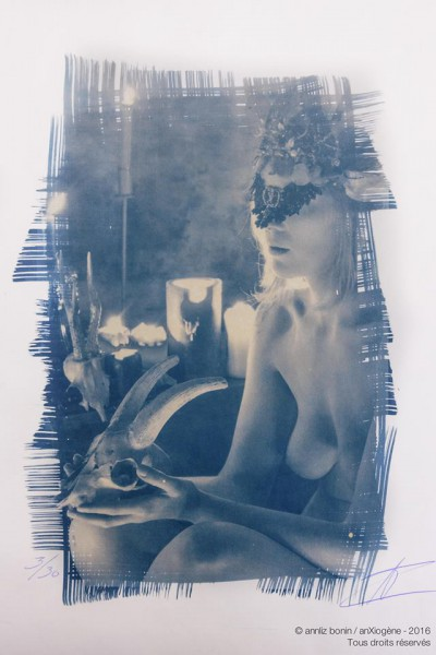 Sacham, photography, cyanotype, anXiogène