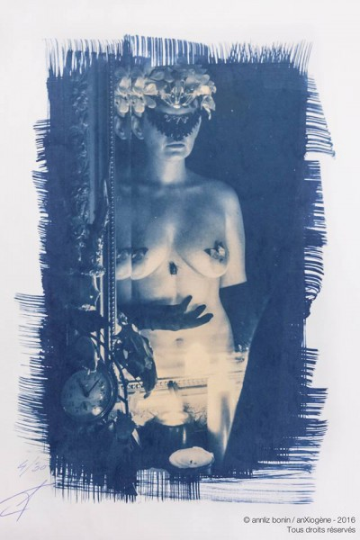 Sixtine, photography, cyanotype, anXiogène