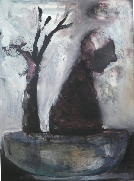 Arbre-voyage, acrylic on canvas, Anne Jebeily