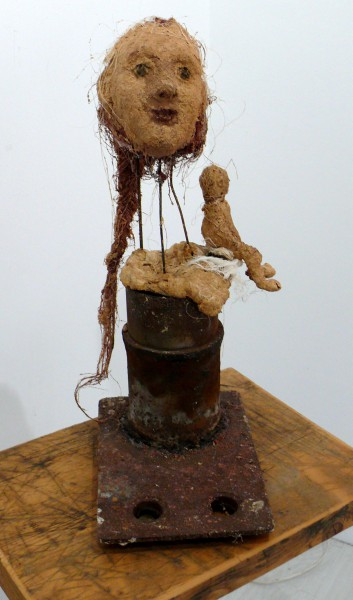 Le Petit Enfant qui est en Toi, woman, sculpture, mixed media, Inès Lopez-Sanchez Mathély, Outsiderart