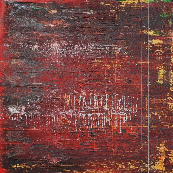 116c, acrylic and mixed media on canvas, Jean Frontera