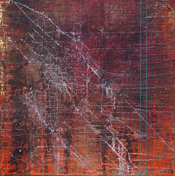 216A, acrylic and mixed media on canvas, Jean Frontera