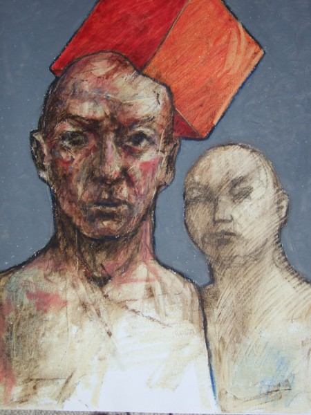 Sans titre 7, oil on paper, Frédéric Galland