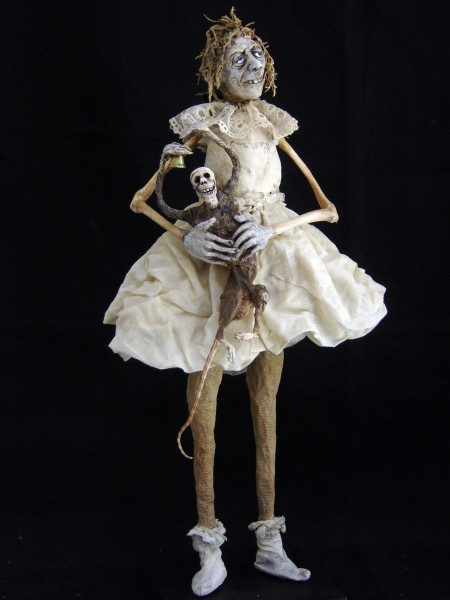 Fée Clochette, sculpture, bones, fabric, Sabrina Gruss, Outsider Art, Contemporary Art, Artcompulsion