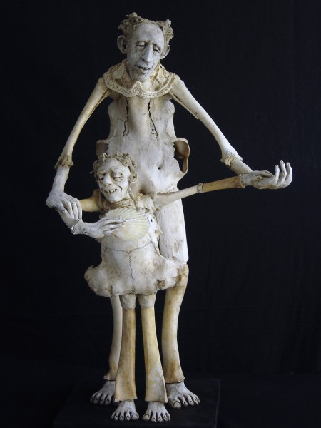 Le secret, sculpture, bones, modelling, Sabrina Gruss