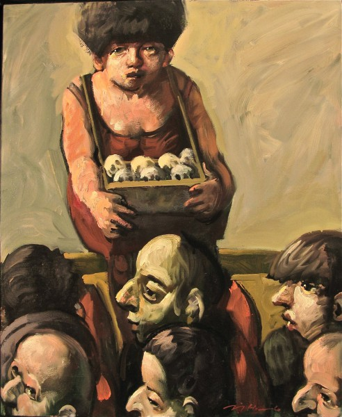 Entre-Acte, oil on canvas, expressionism, figuration, Jörg Hermle
