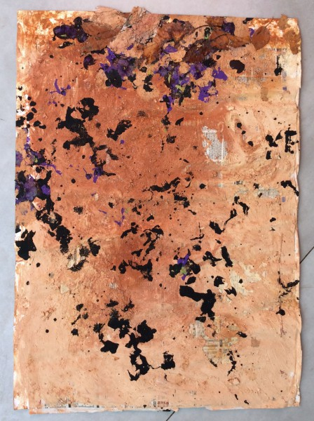 Carnet de voyage d'Australie hiver 2016, 1, mixed media on paper, Emmanuel Flipo, Artcompulsion, contemporary art