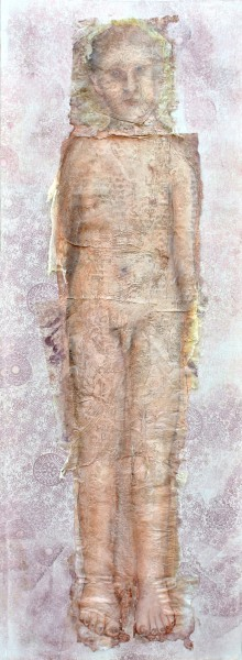 LUI, mixed media on canvas, Inès Lopez-Sanchez Mathély, Outsider art