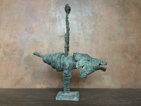 En avant toute, 1/1, sculpture, bronze, Michel Jacucha, Artcompulsion, Outsider art